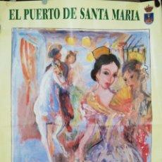 Carteles Feria: CARTEL. PUERTO DE SANTA MARIA. FERIA DE LA PRIMAVERA 1992. MEDIDAS: 90 X 68 CM. APROX.. Lote 171367194