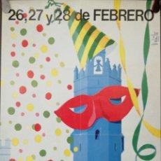Carteles Feria: CARTEL. PUERTO DE SANTA MARIA. CARNAVAL. 1982. MEDIDAS: 62.5 X 40 CM. APROX.. Lote 171367842