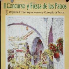 Carteles Feria: PUERTO DE SANTA MARIA. II CONCURSO Y FIESTA DE LOS PATIOS. 1999. MEDIDAS: 69.5 X 48 CM. APROX.. Lote 171368054