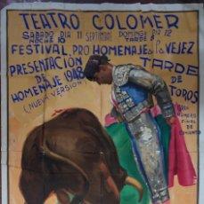 Affissi Fiera: CARTEL DEL FESTIVAL PROHOMENAJE A LA VEJEZ. TEATRO COLOMER. AÑO, 1948. MEDIDAS APROX. 160 X 111 CM. Lote 171390067