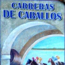 Carteles Feria: CARTEL. CARRERAS DE CABALLOS DE INTERES TURISTICO INTERNACIONAL. SANLUCAR DE BARRAMEDA. 2001.. Lote 171453710