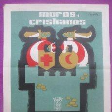 Carteles Feria: CARTEL FIESTAS, MOROS Y CRISTIANOS, VILLENA, 1961, J. SANCHIS, CF58. Lote 171506449