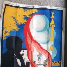 Carteles Feria: CARTEL FALLAS XATIVA JATIVA 1934 , REPUBLICA , VALENCIA, ANTIGUO BUEN ESTADO , E. SANCHIS ,ORIGINAL . Lote 171506847