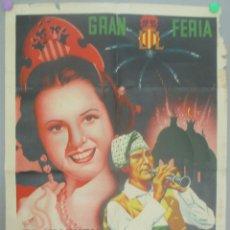 Carteles Feria: CARTEL FERIA, GRAN FERIA DE VALENCIA, JULIO 1947, N.G. PEREZ, CF63. Lote 171603953