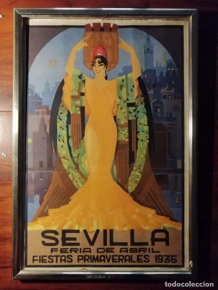 CARTEL FIESTAS DE PRIMAVERA SEVILLA 1935 ORIGINAL (Coleccionismo - Carteles Gran Formato - Carteles Ferias, Fiestas y Festejos)