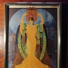Carteles Feria: CARTEL FIESTAS DE PRIMAVERA SEVILLA 1935 ORIGINAL. Lote 54396887