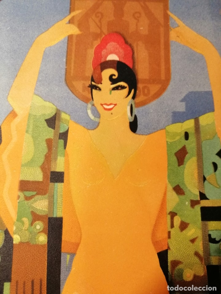 Carteles Feria: CARTEL FIESTAS DE PRIMAVERA SEVILLA 1935 ORIGINAL - Foto 9 - 54396887