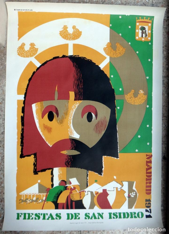 CARTEL FERIAS Y FIESTAS MADRID , SAN ISIDRO 1971 , BLANCOVARAS , LITOGRAFIA , ORIGINAL (Coleccionismo - Carteles Gran Formato - Carteles Ferias, Fiestas y Festejos)