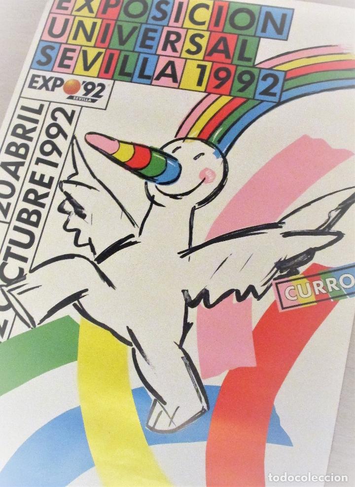 CARTEL EXPO'92 SEVILLA. 100 X 70 CM. 1992. EXPOSICIÓN UNIVERSAL. (Coleccionismo - Carteles Gran Formato - Carteles Ferias, Fiestas y Festejos)
