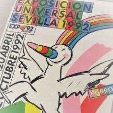 Carteles Feria: CARTEL EXPO'92 SEVILLA. 100 X 70 CM. 1992. EXPOSICIÓN UNIVERSAL.. Lote 172580830