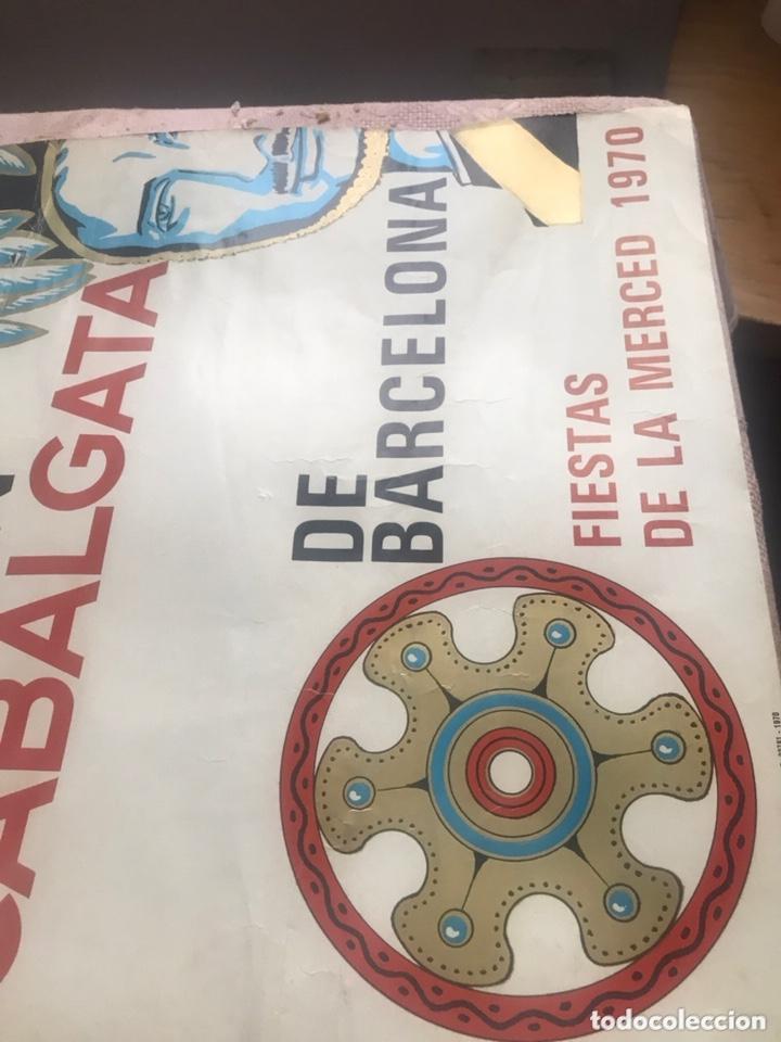 CARTEL PUBLICIDAD BARCELONA FIESTAS MERCÉ 1970 XII GRAN CABALGATA GUARDIA URBANA CIRCULO ARTISTICO (Coleccionismo - Carteles Gran Formato - Carteles Ferias, Fiestas y Festejos)