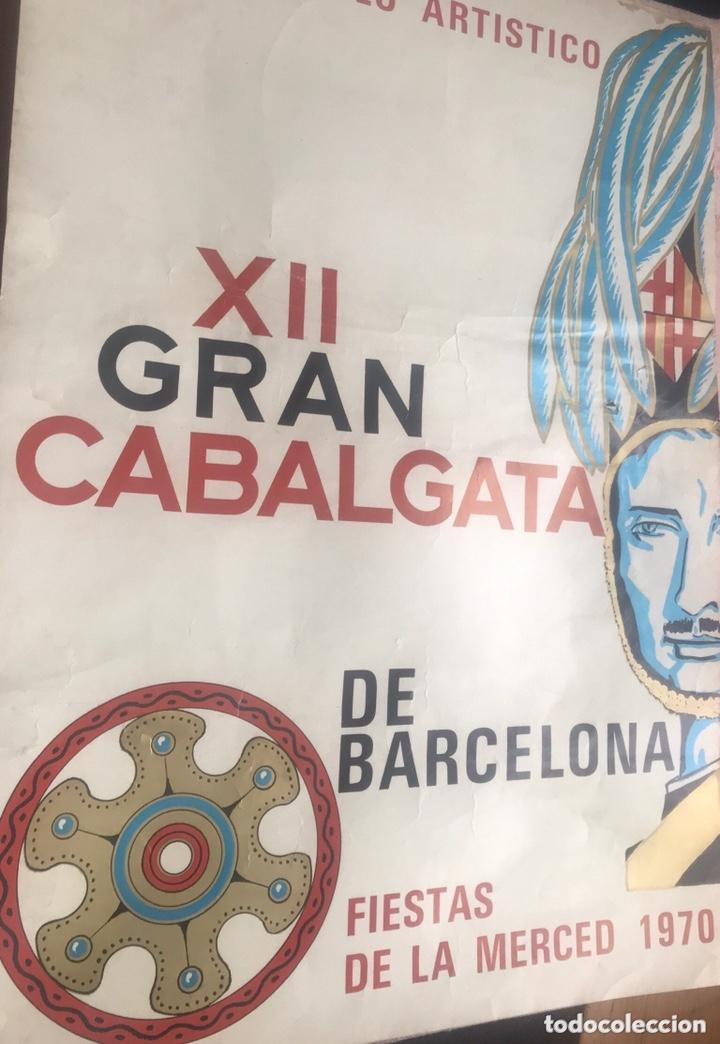 Carteles Feria: CARTEL PUBLICIDAD BARCELONA FIESTAS MERCÉ 1970 XII GRAN CABALGATA GUARDIA URBANA CIRCULO ARTISTICO - Foto 2 - 172669354