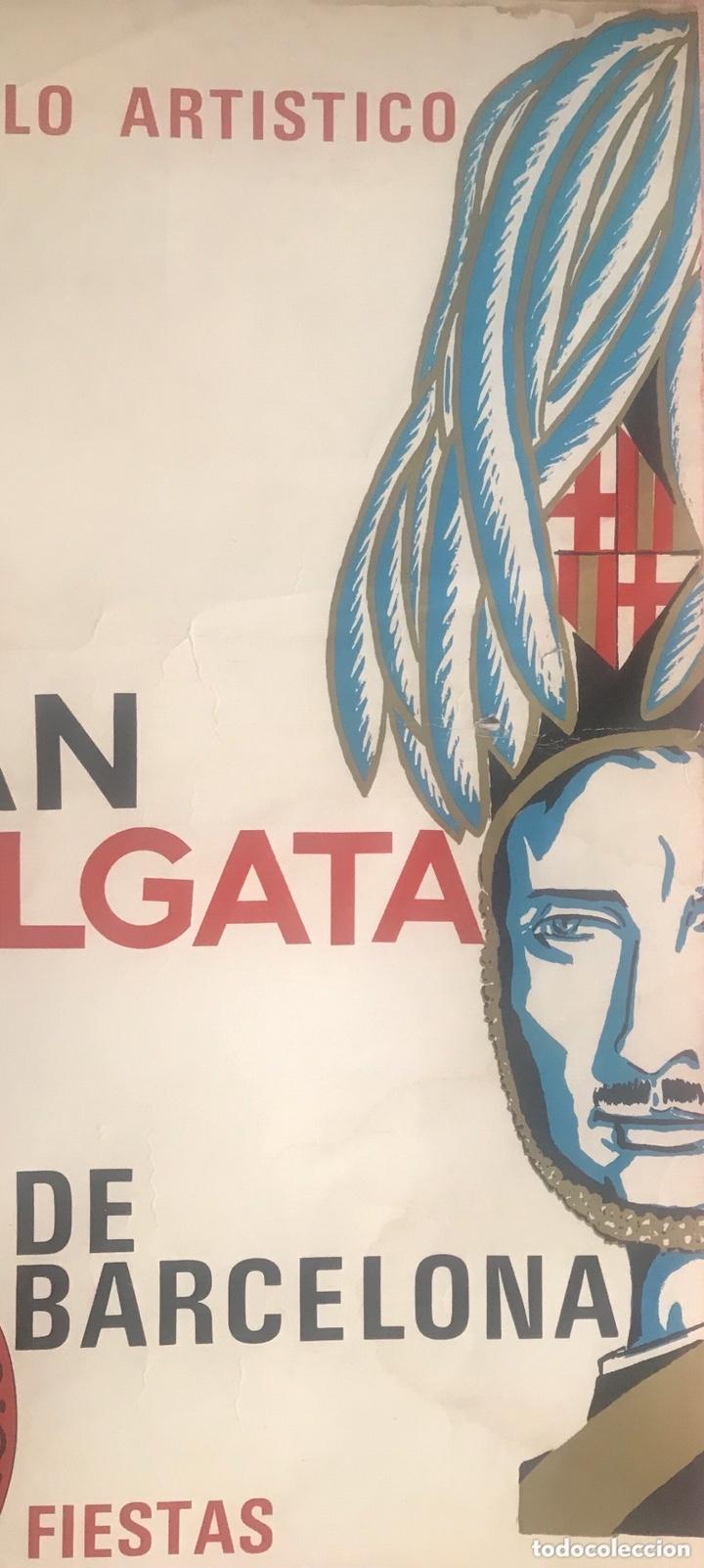 Carteles Feria: CARTEL PUBLICIDAD BARCELONA FIESTAS MERCÉ 1970 XII GRAN CABALGATA GUARDIA URBANA CIRCULO ARTISTICO - Foto 3 - 172669354