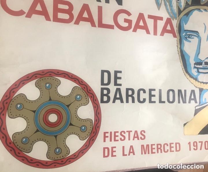 Carteles Feria: CARTEL PUBLICIDAD BARCELONA FIESTAS MERCÉ 1970 XII GRAN CABALGATA GUARDIA URBANA CIRCULO ARTISTICO - Foto 6 - 172669354