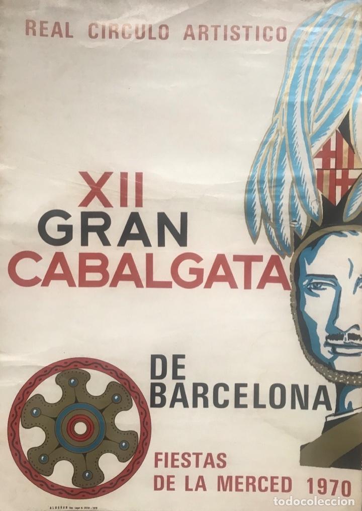 Carteles Feria: CARTEL PUBLICIDAD BARCELONA FIESTAS MERCÉ 1970 XII GRAN CABALGATA GUARDIA URBANA CIRCULO ARTISTICO - Foto 7 - 172669354