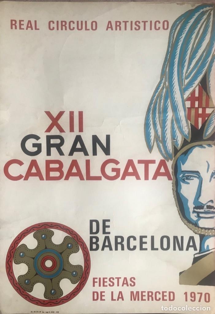 Carteles Feria: CARTEL PUBLICIDAD BARCELONA FIESTAS MERCÉ 1970 XII GRAN CABALGATA GUARDIA URBANA CIRCULO ARTISTICO - Foto 8 - 172669354
