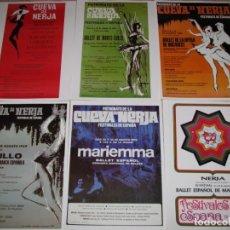 Carteles Feria: 29 CARTELES DE FESTIVAL DE CUEVA DE NERJA. LEER LA DESCRIPCIÓN.. Lote 172962195