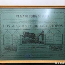 Carteles Feria: CARTEL DE TOROS JEREZ 1873. Lote 173626500