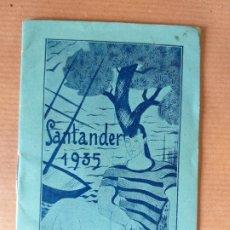 Carteles Feria: PROGRAMA DE FESTEJOS DE 1935 DE SANTANDER. Lote 174583498