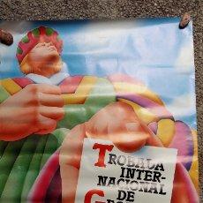 Affiches Foire: PÓSTER TROBADA INTERNACIONAL DE GEGANTS. 1982. MATADEPERA. DEPARTAMENT CULTURA GENERALITAT. Lote 174955743