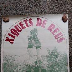 Carteles Feria: TROBADA CASTELLERA. XIQUETS DE REUS, XIQUETS DE VALLS, MINYONS DE TERRASSA, NOIS DE LA TORRE. 1982. Lote 174957735