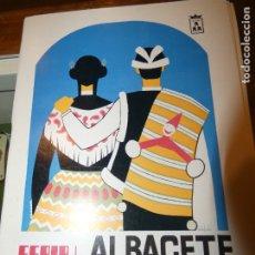 Affissi Fiera: PROGRAMA DE LA FERIA DE ALBACETE AÑO 1975. Lote 175452708
