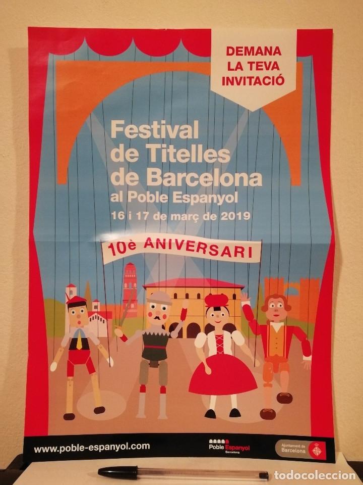 CARTEL ORIGINAL -A3- MARIONETAS DE BARCELONA - FESTIVAL - 10 ANIVERSARIO (Coleccionismo - Carteles Gran Formato - Carteles Ferias, Fiestas y Festejos)