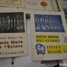 Carteles Feria: SANTA MARIA DEL ESTANY FIESTA MAYOR 1960,1961, 1962, 1964 Y 1969. Lote 175819838