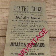 Carteles Feria: FREGENAL DE LA SIERRA, 1942, CARTEL OBRA DE TEATRO A BENEFICIO DE ACCION CATOLICA,105X300MM. Lote 176120273