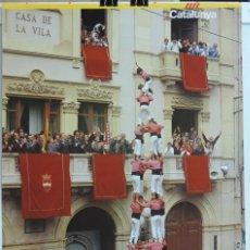 Carteles Feria: CARTEL CASTELLERS, COLLA VELLA DELS XIQUETS DE VALLS, GENERALITAT DE CATALUNYA, MEDIDAS APROXIMADAS:. Lote 176738514