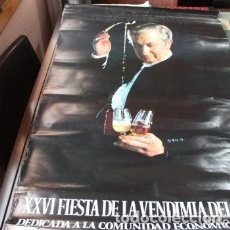 Carteles Feria: FIESTA DE LA VENDIMIA DEL SHERRY AÑO 1973. Lote 177566729