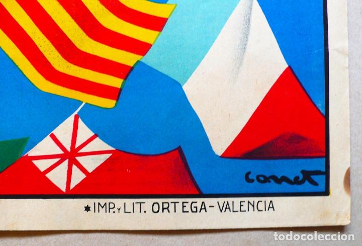 Carteles Feria: VALENCIA. GRAN CARTEL FERIA MUESTRARIO INTERNACIONAL . AÑO 1934. REPÚBLICA. - Foto 4 - 178003399