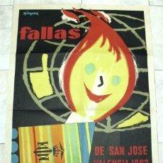 Carteles Feria: CARTEL FALLAS DE SAN JOSÉ - VALENCIA 1962. Lote 178066258