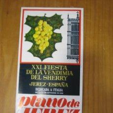 Carteles Feria: XXI FIESTA DE LA VENDIMIA DE JEREZ. CADIZ. Lote 178201836