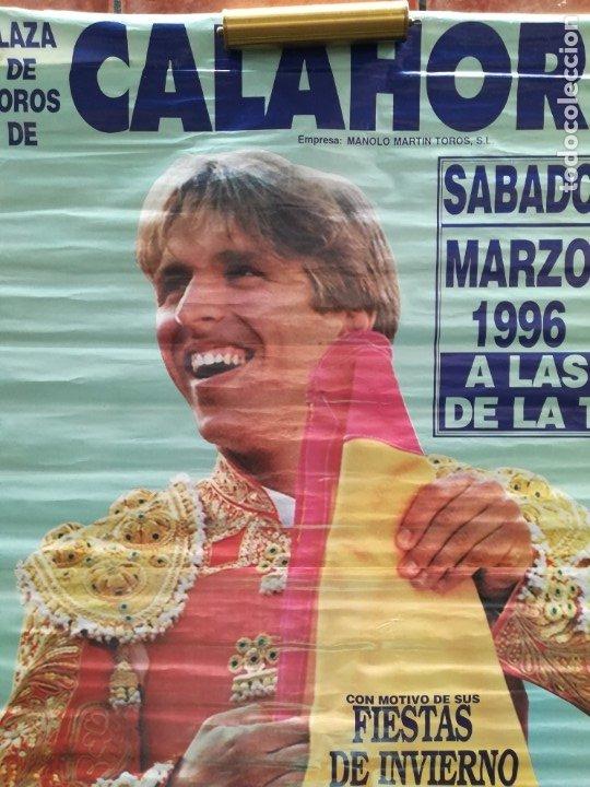 Carteles Feria: Gran cartel de toros año 1996, 191×90 cm, El Cordobés - Foto 2 - 178597083
