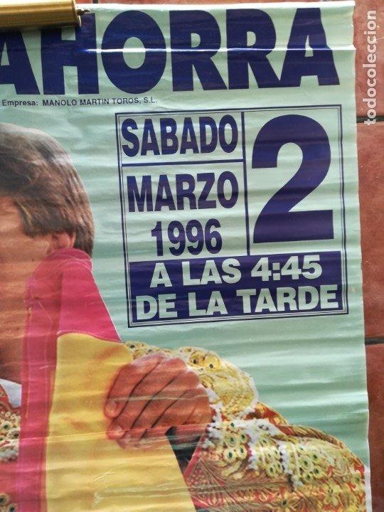 Carteles Feria: Gran cartel de toros año 1996, 191×90 cm, El Cordobés - Foto 3 - 178597083