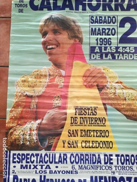 Carteles Feria: Gran cartel de toros año 1996, 191×90 cm, El Cordobés - Foto 4 - 178597083