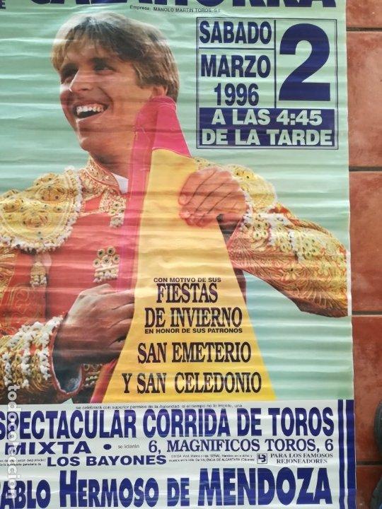 Carteles Feria: Gran cartel de toros año 1996, 191×90 cm, El Cordobés - Foto 5 - 178597083