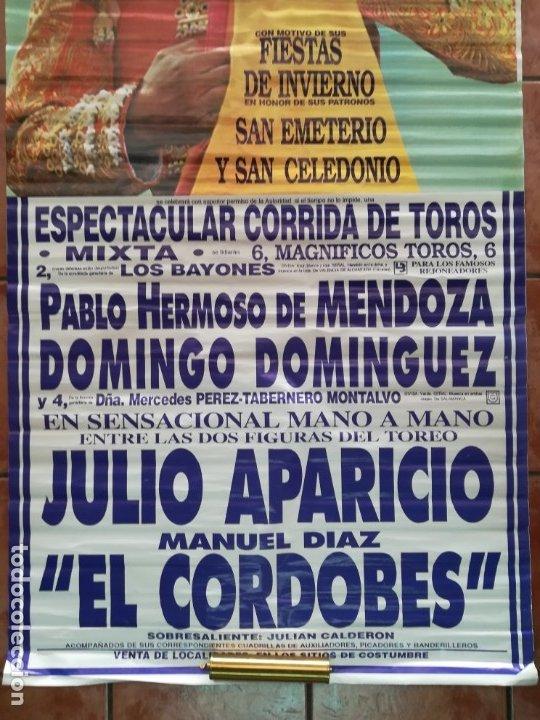 Carteles Feria: Gran cartel de toros año 1996, 191×90 cm, El Cordobés - Foto 6 - 178597083