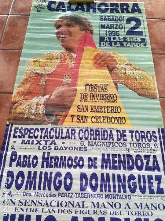 Carteles Feria: Gran cartel de toros año 1996, 191×90 cm, El Cordobés - Foto 7 - 178597083