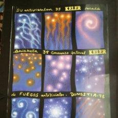 Carteles Feria: SAN SEBASTIÁN CONCURSO DE FUEGOS ARTIFICIALES 1998 CARTEL. Lote 178682016