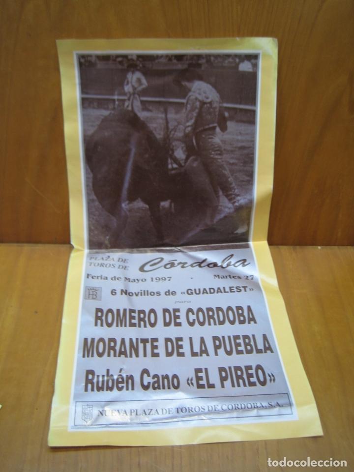 CARTEL PLAZA DE TOROS DE CORDOBA 1997 (Coleccionismo - Carteles Gran Formato - Carteles Ferias, Fiestas y Festejos)