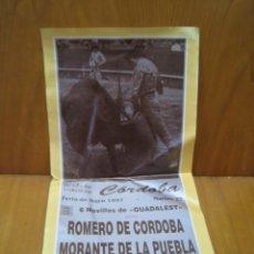 Carteles Feria: CARTEL PLAZA DE TOROS DE CORDOBA 1997. Lote 178866742
