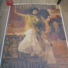 Carteles Feria: ENROME CARTEL DE LA FERIA DE SEVILLA DE 1985 ..... 110 X 159 CM. Lote 179057066