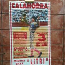 Carteles Feria: GRAN CARTEL DE TOROS AÑO 1995 FOTO JESULIN DE UBRIQUE 190×90 CM. Lote 179399471