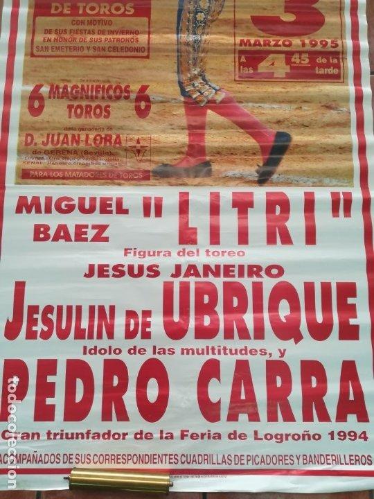 Carteles Feria: Gran cartel de toros año 1995 , 190×90 cm - Foto 7 - 179399471