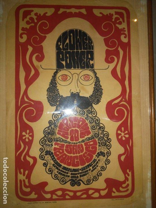 Carteles Feria: CARTEL ORIGINAL MOVIMIENTO HIPPIE FLOWER POWER - SAN FRANCISCO AÑOS 60. - Foto 3 - 180086825