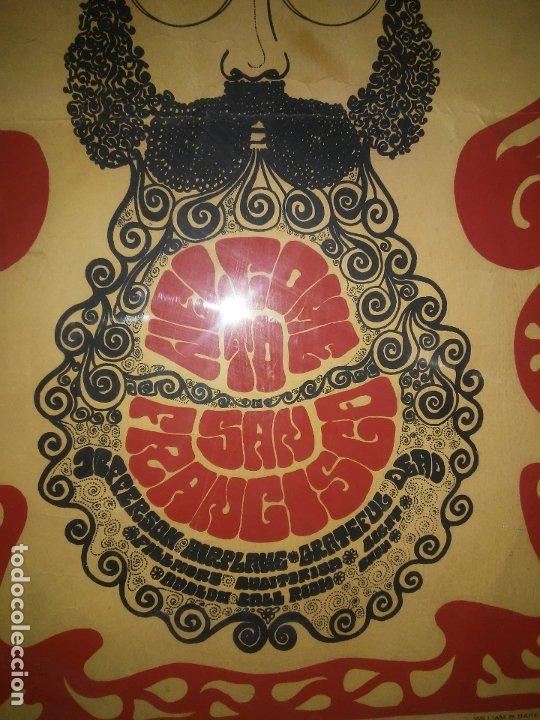 Carteles Feria: CARTEL ORIGINAL MOVIMIENTO HIPPIE FLOWER POWER - SAN FRANCISCO AÑOS 60. - Foto 4 - 180086825