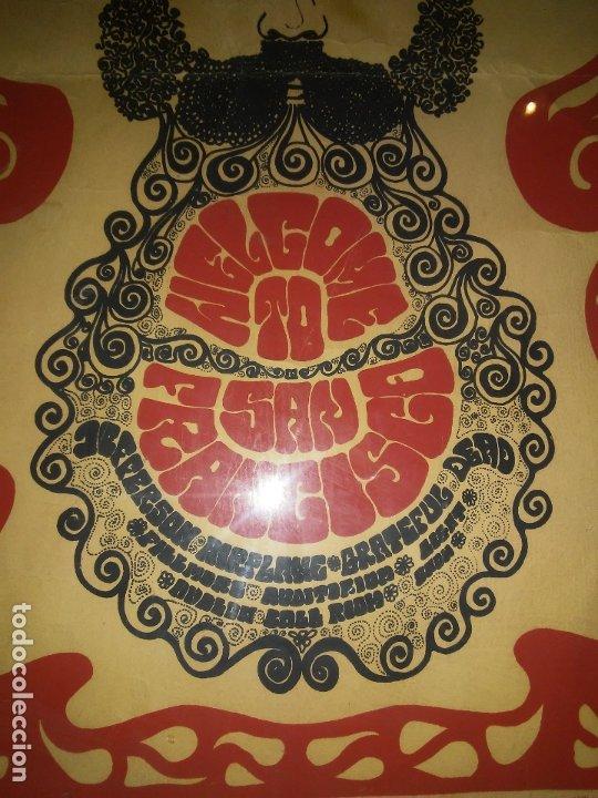 Carteles Feria: CARTEL ORIGINAL MOVIMIENTO HIPPIE FLOWER POWER - SAN FRANCISCO AÑOS 60. - Foto 5 - 180086825