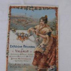 Carteles Feria: CARTEL EXPOSICION NACIONAL EN VALENCIA 1910,LIT S.DURA VALENCIA. Lote 181775040